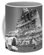 Scots Bluff Black And White Coffee Mug