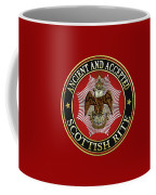 Scottish Rite Double-headed Eagle On Red Leather Coffee Mug