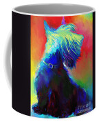 Scottish Terrier Dog Painting Coffee Mug by Svetlana Novikova