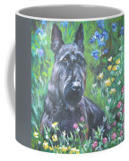Scottish Terrier In The Garden Coffee Mug