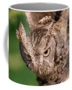 Screech Owl In Flight Coffee Mug