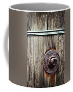 Screw Attached To A Wooden Beam Coffee Mug