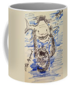 Scuba Diving With Sharks Coffee Mug