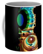 Sculpted Glass Coffee Mug