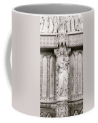 Sculpture Above North Entrance Of Westminster Abbey London Bw Coffee Mug