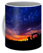 Sculpture By The Sea - Sunset Silhouette By Kaye Menner Coffee Mug