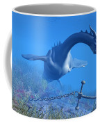 Sea Dragon And Anchor Coffee Mug