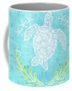 Flamingo Beach 1 - Turtle With Starfish  Coffee Mug