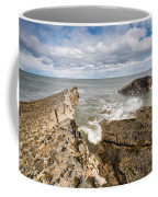 Sea Meets Rocks At Howick Coffee Mug