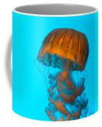 Sea Nettle Jellyfish - Orange And Turquoise Coffee Mug