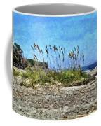 Sea Oats And Coastline Coffee Mug