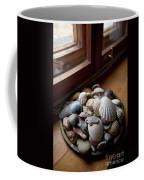 Sea Shells And Stones On Windowsill Coffee Mug