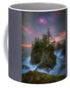 Sea Stack With Trees Of Oregon Coast Coffee Mug