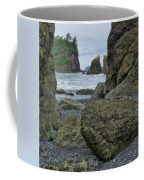 Sea Stacks And Boulders Washington State Coffee Mug