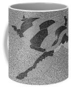 Sea Turtle Inlay In Grayscale Coffee Mug