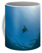 Sea Turtle Silhouette Coffee Mug