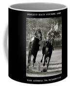 Seabiscuit Vs War Admiral, Match Of The Century, Pimlico, 1938 Coffee Mug