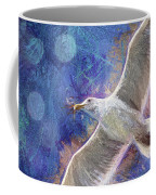 Seagull Against Blue Abstract Coffee Mug