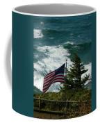 Seagull And Flag Coffee Mug