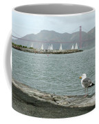 Seagull And Golden Gate Bridge Coffee Mug