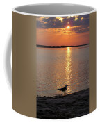 Seagull At Sunset Coffee Mug