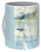 Seagull On The Beach Coffee Mug