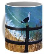 Seagull On The Fence Coffee Mug