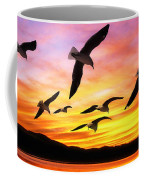 Seagull Sunset   Coffee Mug
