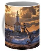 Seagull Takeoff - Tiscornia Beach  Coffee Mug