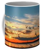 Seagulls At Sunset Coffee Mug