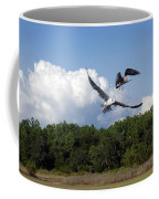 Seagulls Over Marsh Coffee Mug