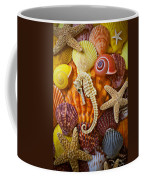 Seahorse And Assorted Sea Shells Coffee Mug by Garry Gay
