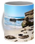 Seals Siesta On La Jolla Beach Coffee Mug