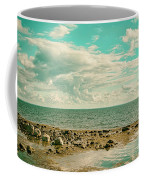 Seascape Cloudscape Retro Effect Coffee Mug