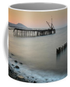 Seascape With Deserted Jetty During Sunset Coffee Mug