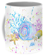 Seashells And Coral Watercolor Coffee Mug