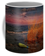 Seaside Bottle At Sunset Coffee Mug