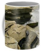 Seaside With Rocks On Left Coffee Mug