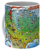Seasons Greetings Usa Coffee Mug
