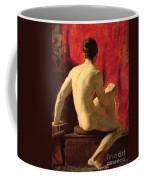 Seated Male Model Coffee Mug
