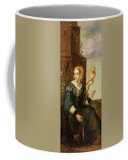 Seated Noble Lady With Distaff Coffee Mug