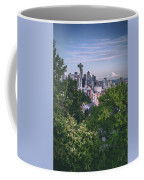 Seattle And Mt. Rainier Vertical Coffee Mug