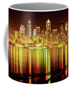 Seattle Panorama Reflection In Elliot Bay Coffee Mug by Tim Rayburn