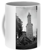 Seattle - Pioneer Square Tower Bw Coffee Mug