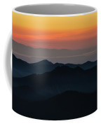 Seattle Puget Sound And The Olympics Sunset Layers Landscape Coffee Mug