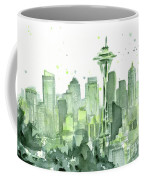Seattle Watercolor Coffee Mug by Olga Shvartsur