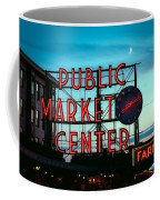 Seattle's Public Market Center At Sunset Coffee Mug