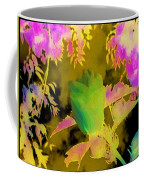 Second Take Abstract Green Blue Flowers Coffee Mug