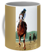 Secretariat Winning The Belmont Stakes, Jockey Ron Turcotte Looking Back, 1973 Coffee Mug
