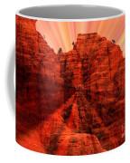 Sedona Sunset Energy - Abstract Art Coffee Mug by Carol Groenen